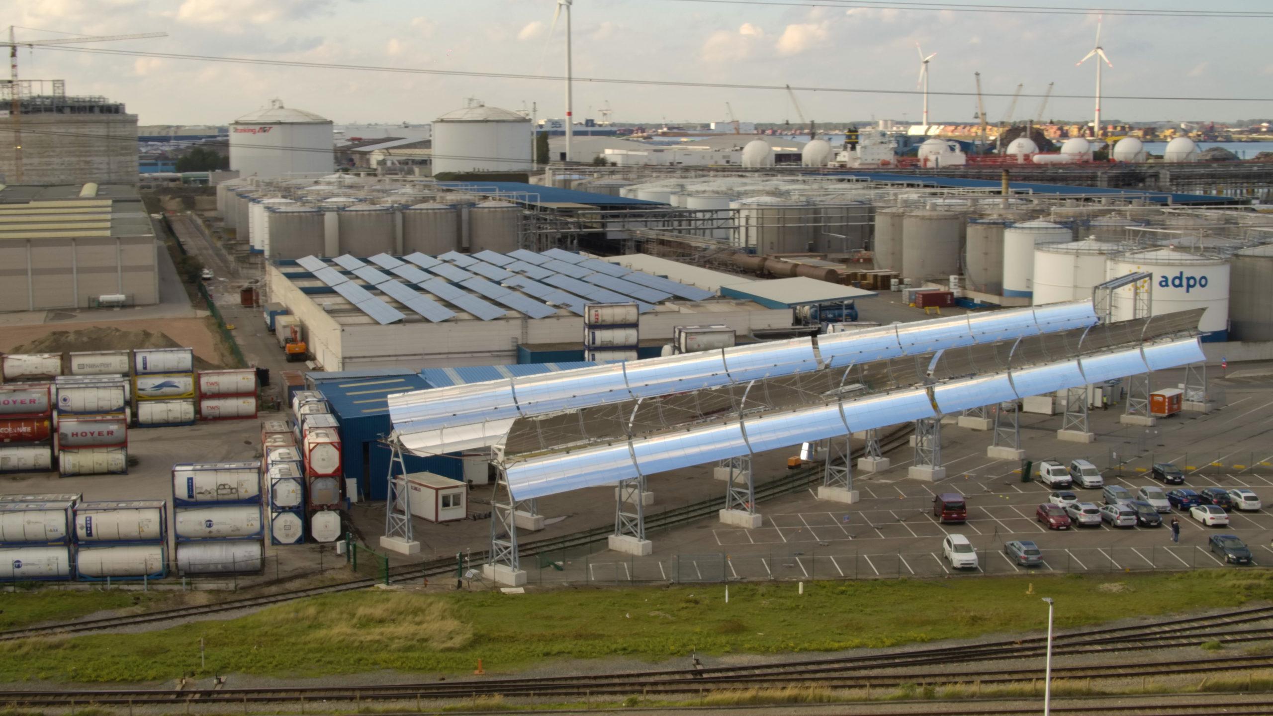Eerste zonnespiegelparken op komst in Vlaanderen